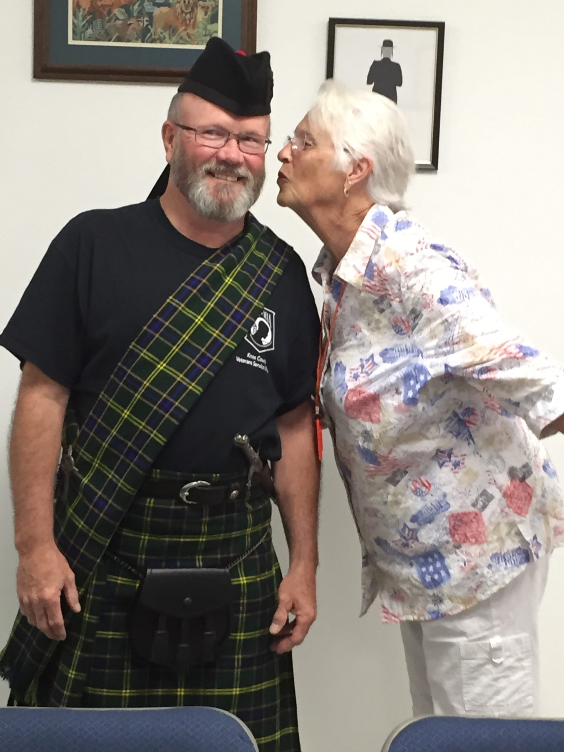 The Scot and his lady also make a covenant of peace!
