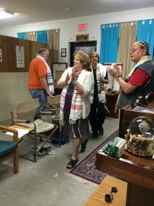 Glenda is so happy during Simchah Torah