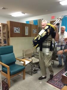 Simchah Torah Passing the Torah to Charlie